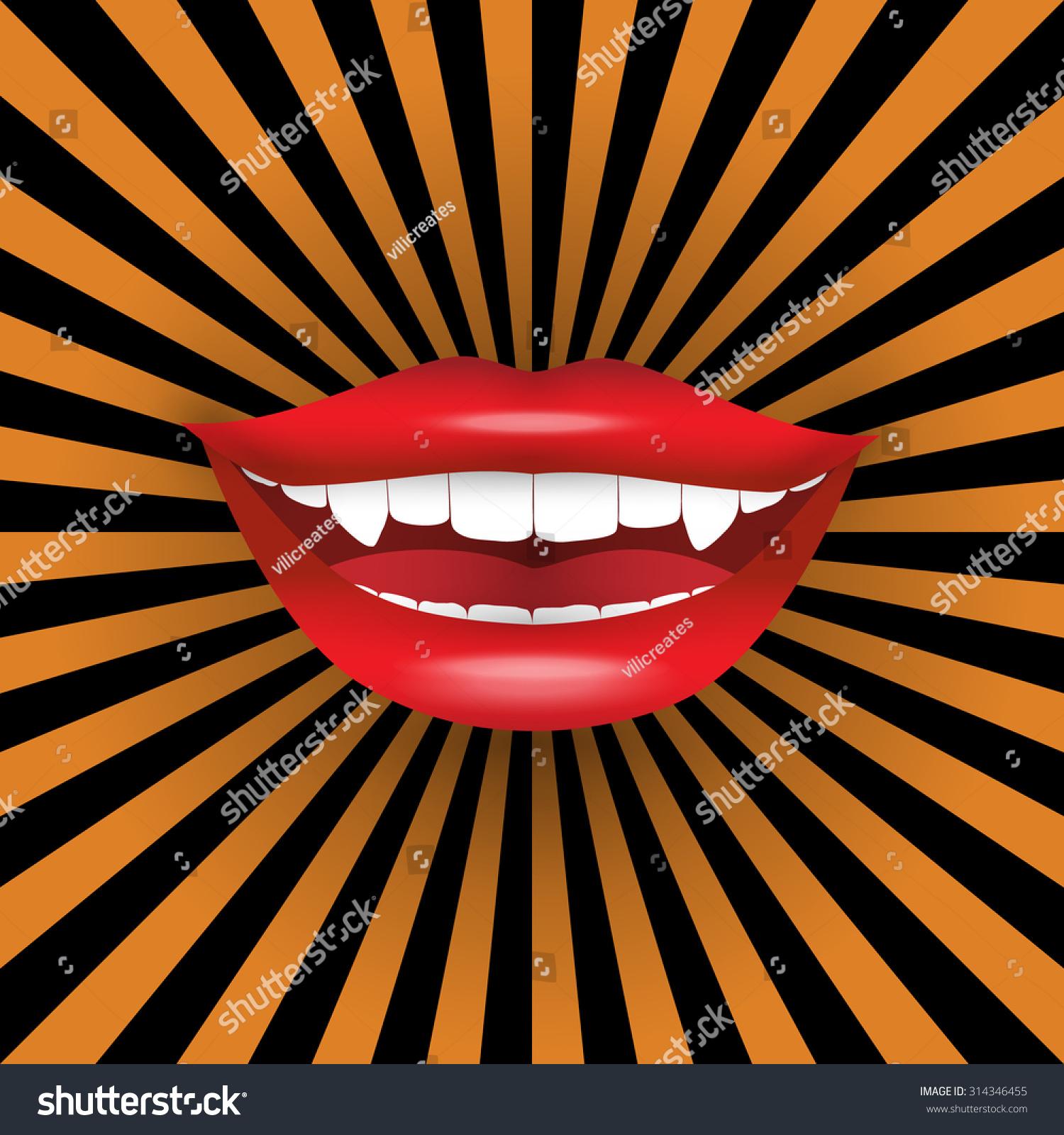 Royalty-free Halloween poster. Seductive vampire… #314346455 Stock ...