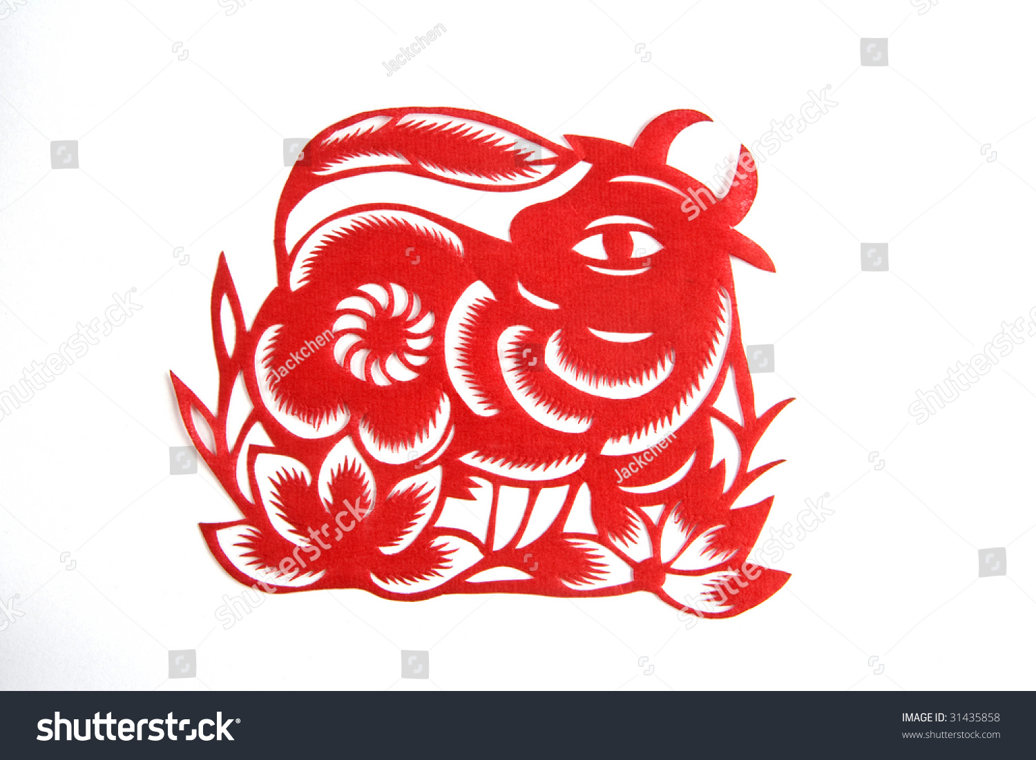 chinese zodiac lunar new year ox patient stock photo 31435858 shutterstock. Black Bedroom Furniture Sets. Home Design Ideas