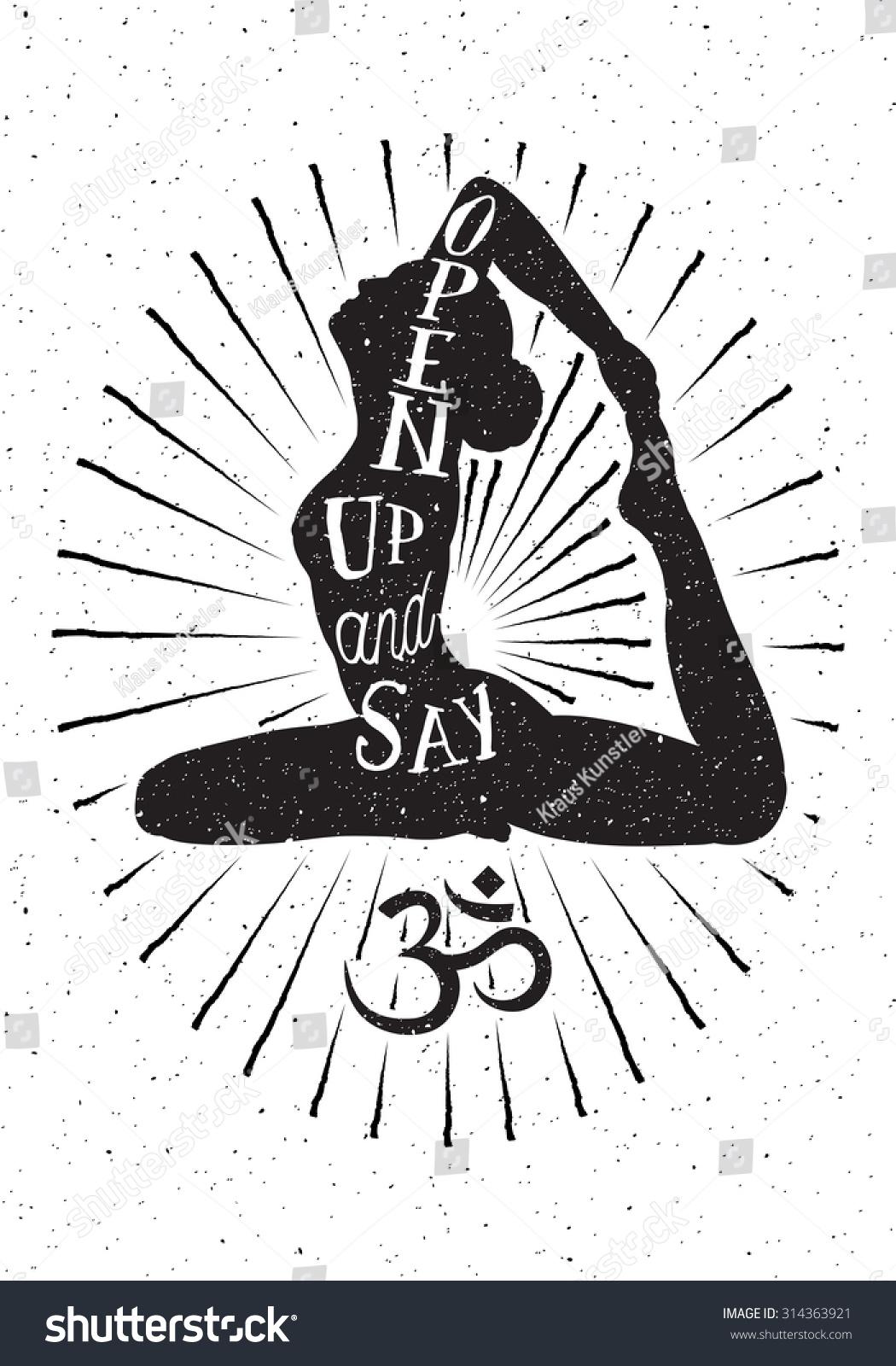 Yoga Woman Om Symbolhand Drawn Vector Stock Vector 314363921 ...