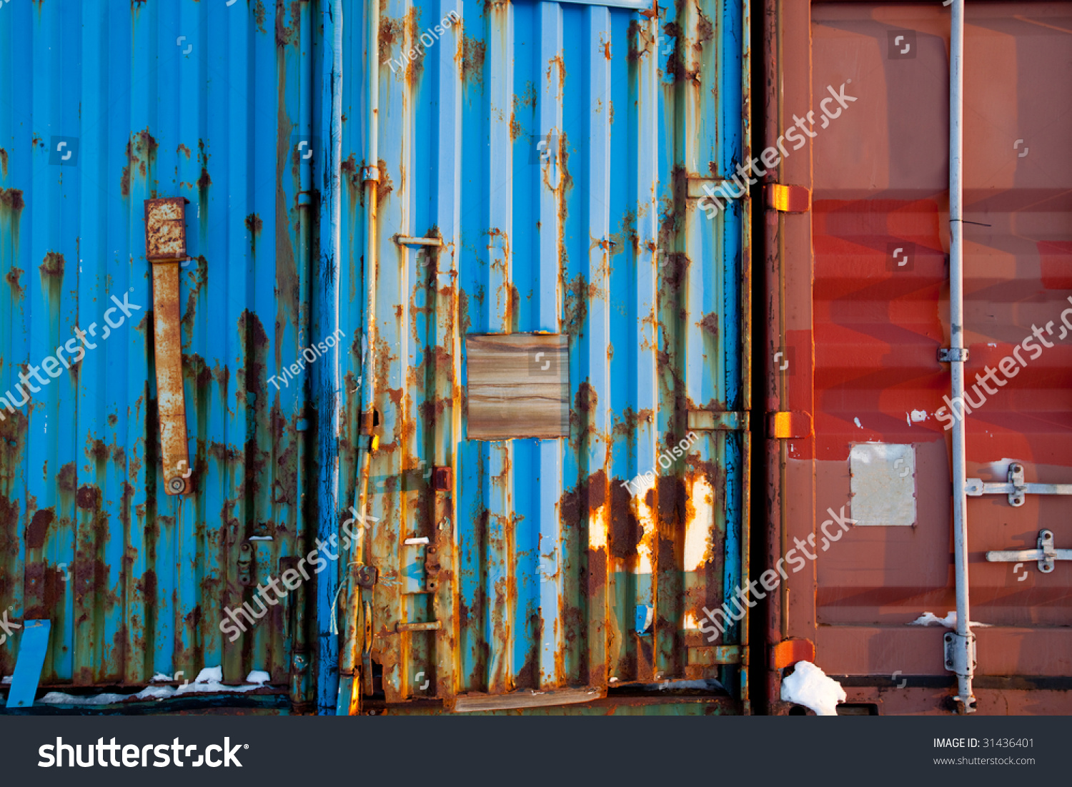 A background surface texture of a shipping container stock for Surface container