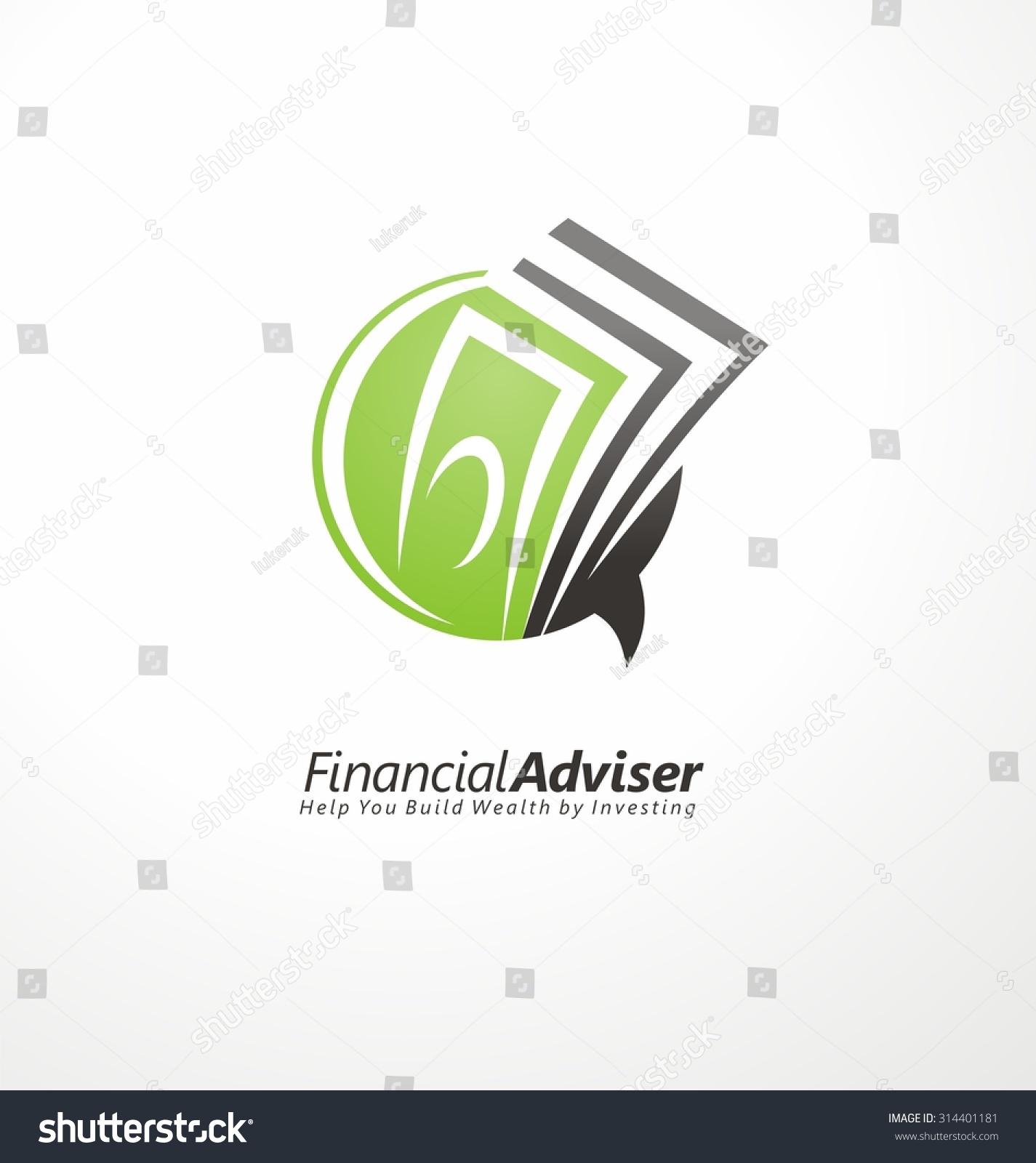 Finance Logo: Financial Adviser Logo Design Layout. Business And Finance