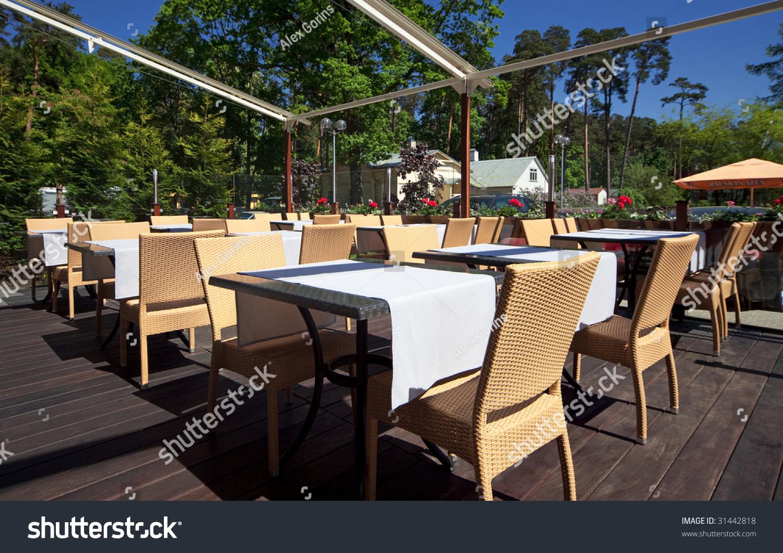 Summer terrace restaurant stock photo 31442818 shutterstock for Terrace 45 restaurant