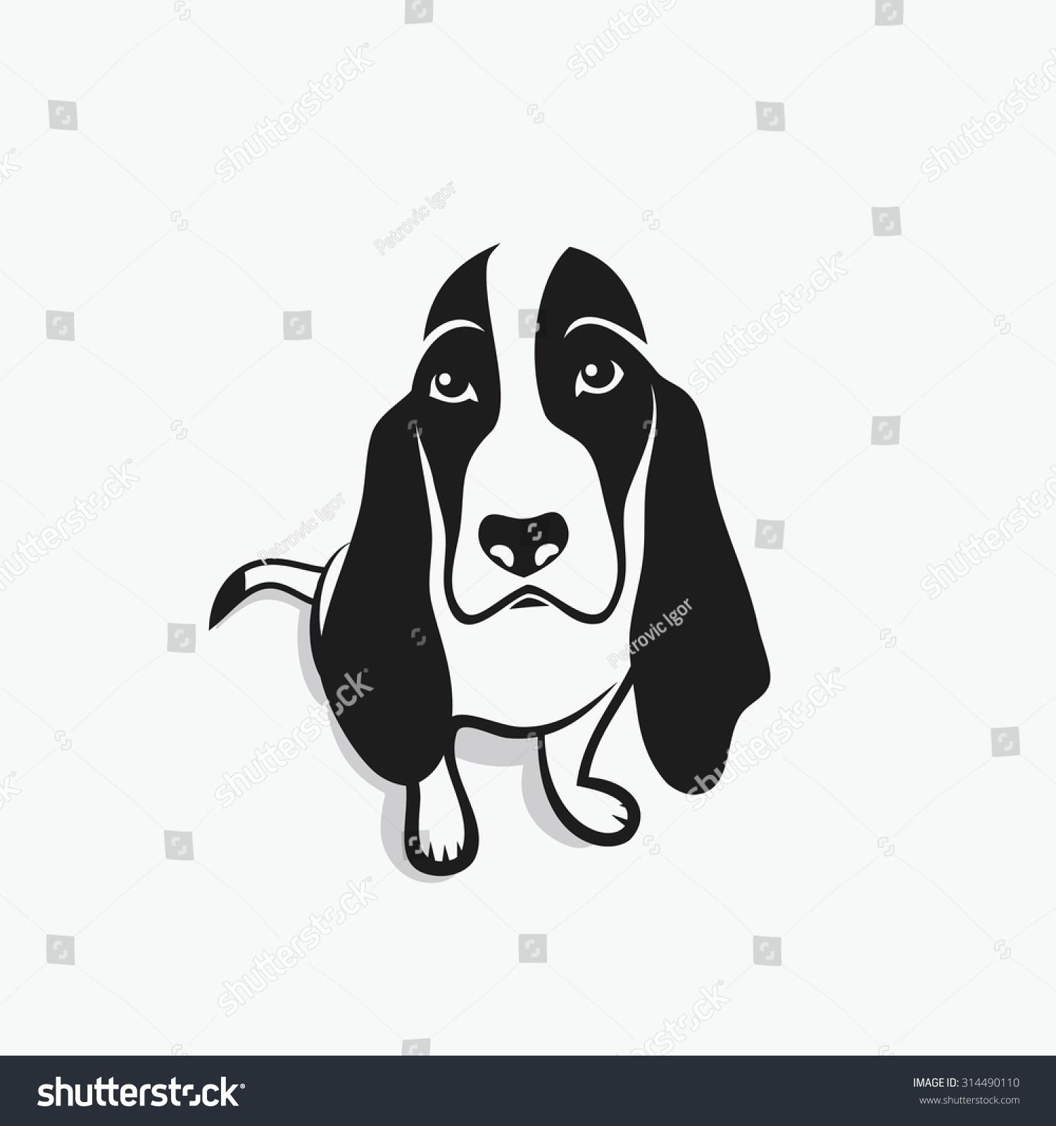 basset hound vector illustration stock vector 314490110 shutterstock