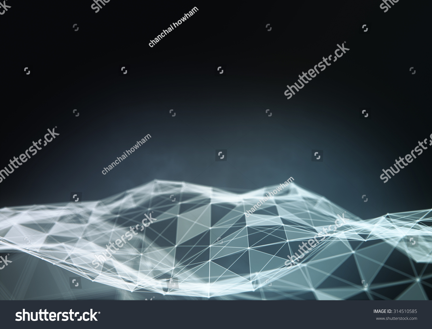 Abstract moving background white dots connected on fresh green stock - Abstract Polygonal Space Low Poly Dark Background With Connecting Dots And Lines Connection Structure