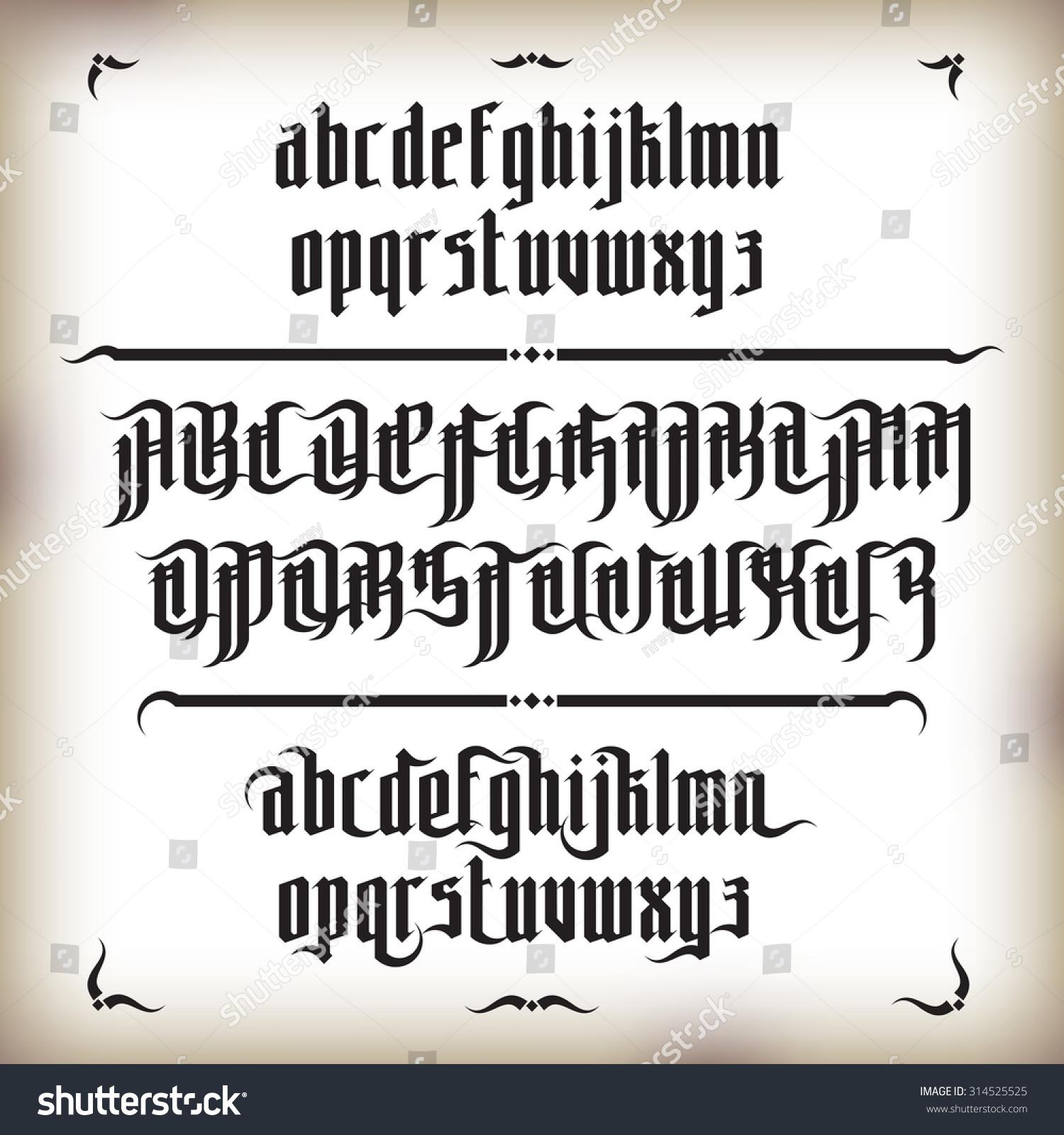 Modern gothic fonts pixshark images galleries