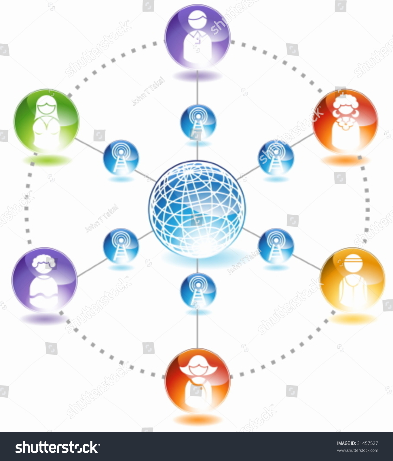 social network diagram   chart representing a network of people    social network diagram   chart representing a network of people communicating with each other  stock vector illustration     shutterstock