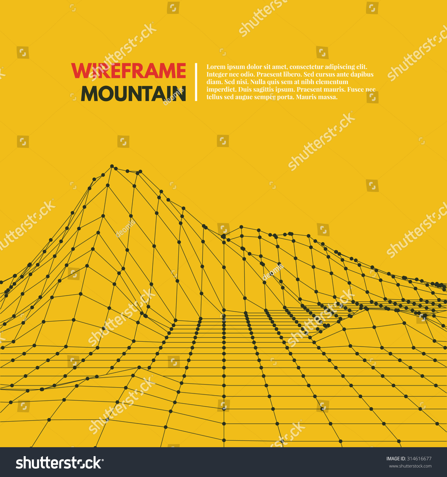 wireframe mountains wireframe mesh polygonal surface mountains with connected 492