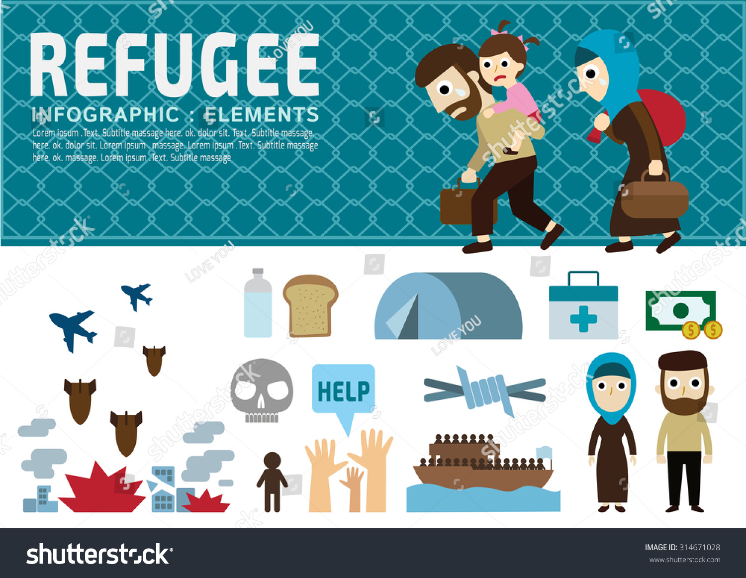 Infographic refugee vetting