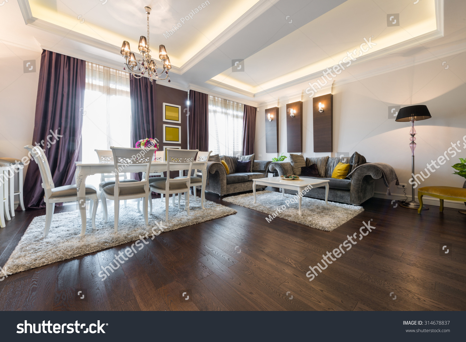 Luxury apartment interior stock photo 314678837 shutterstock for Luxury flats interior