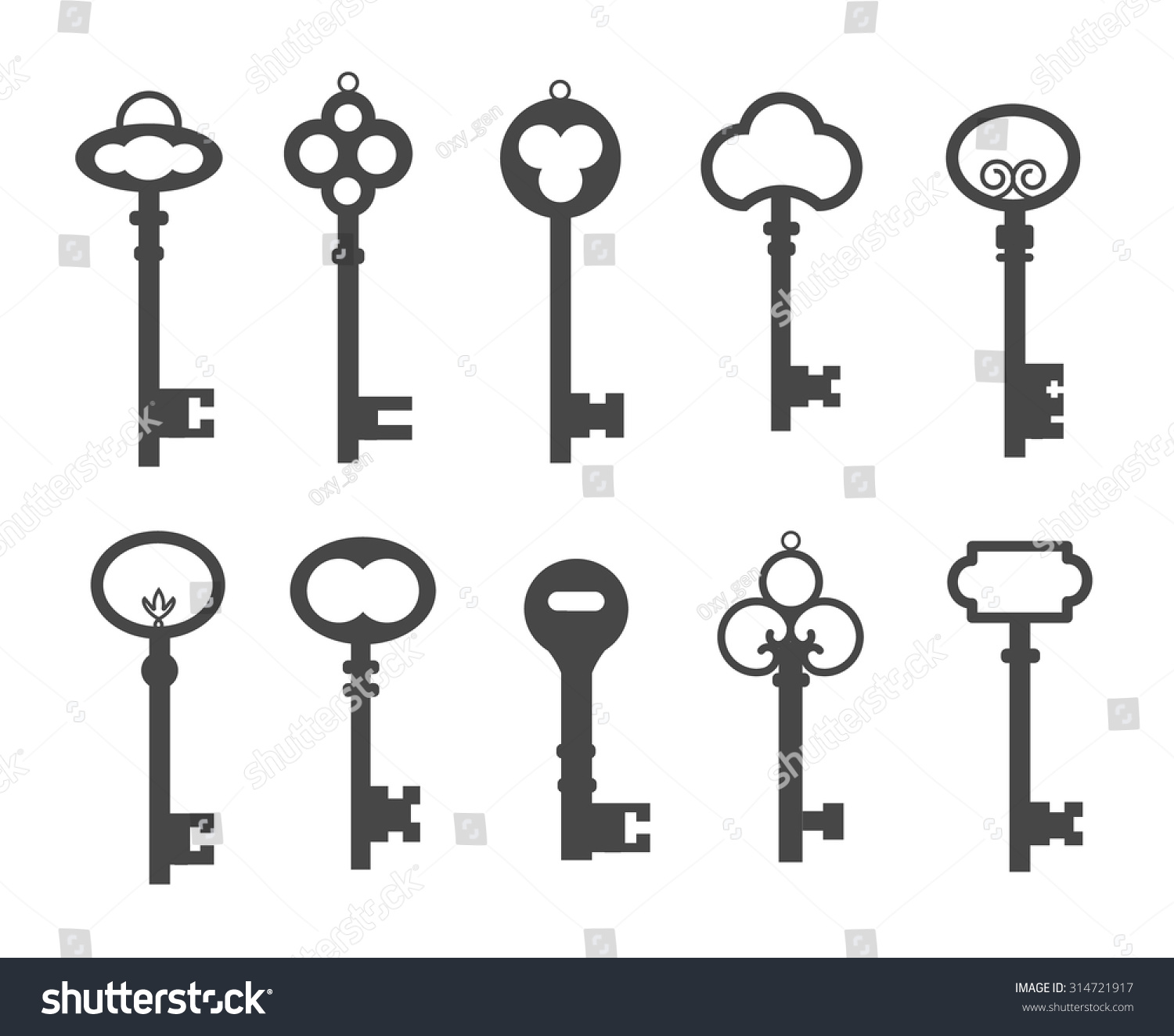 skeleton key clipart free vector - photo #45