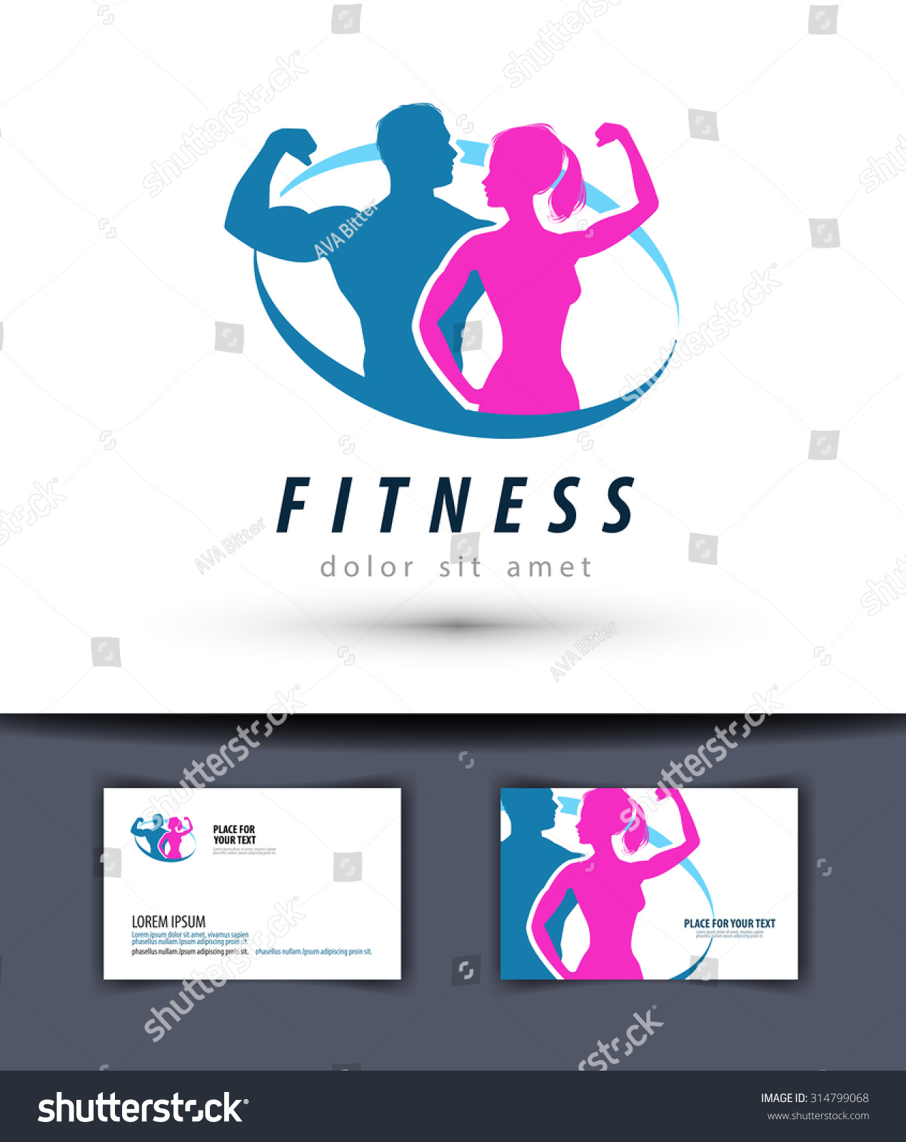 fitness vector logo design template gym stock vector 314799068