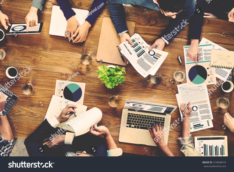 marketing analysis accounting team business meeting
