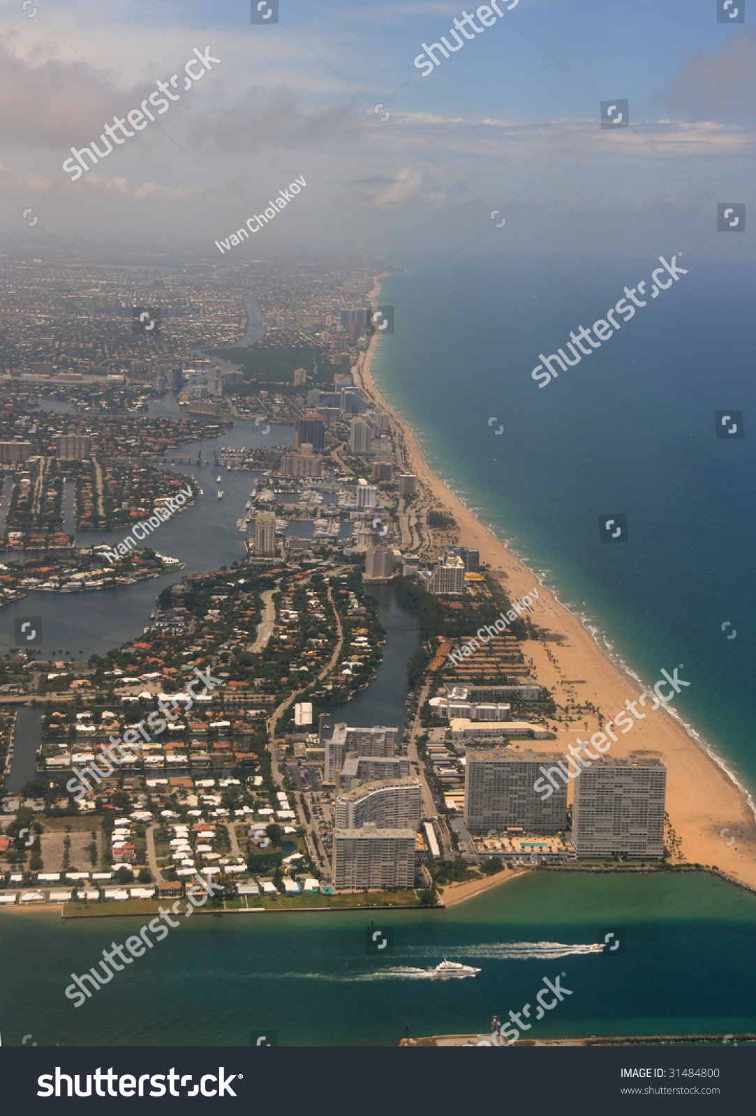 Aerial View Of Fort Lauderdale Beach, Florida Stock Photo