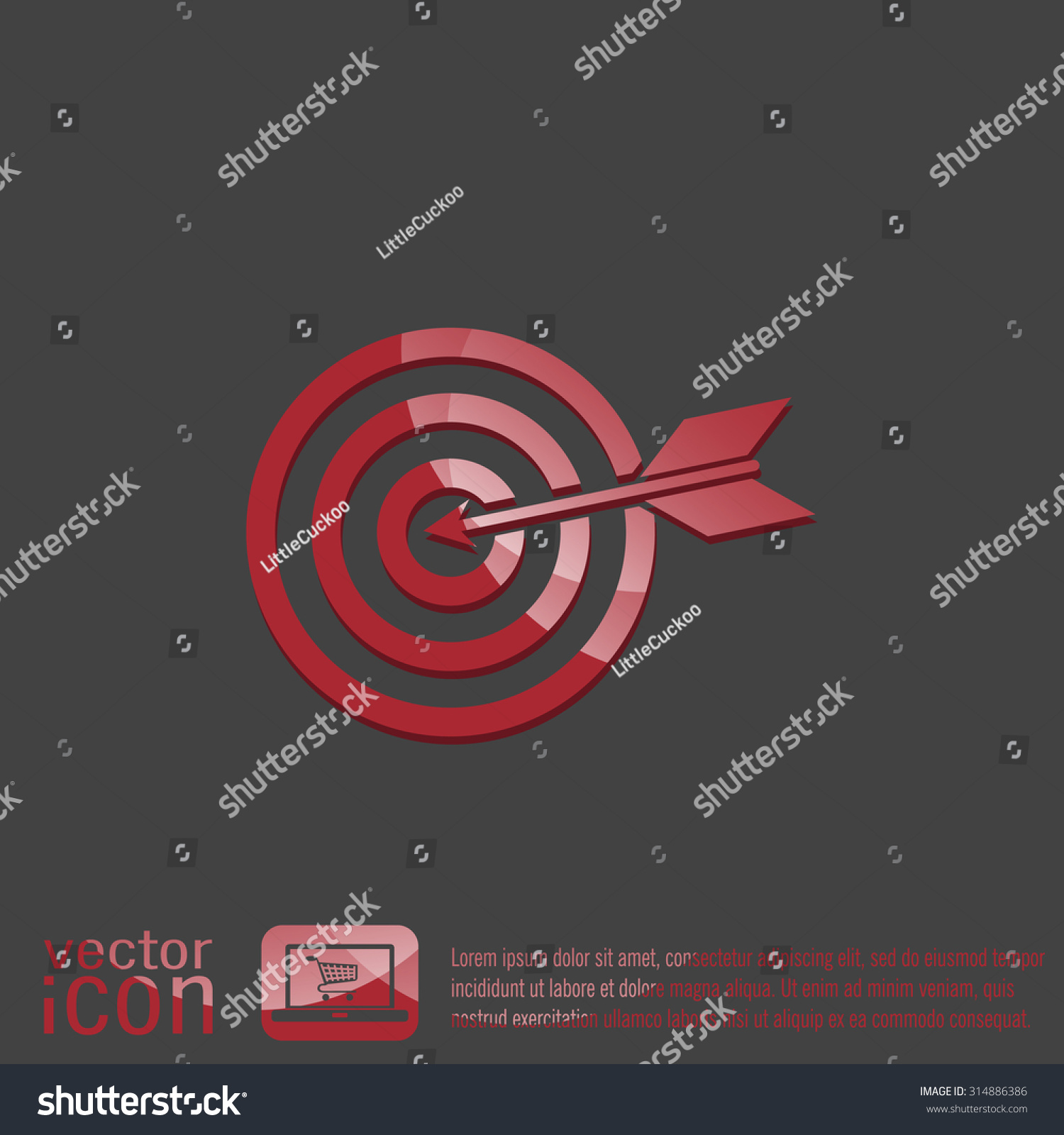 Target symbol sporty character hit target stock vector 314886386 target symbol sporty character hit the target buycottarizona Image collections