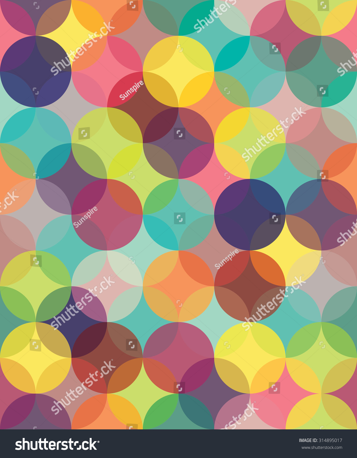 Brown bed sheet textures - Vector Modern Seamless Colorful Vintage Pattern Overlapping Circles Colored Background Textile Print Abstract