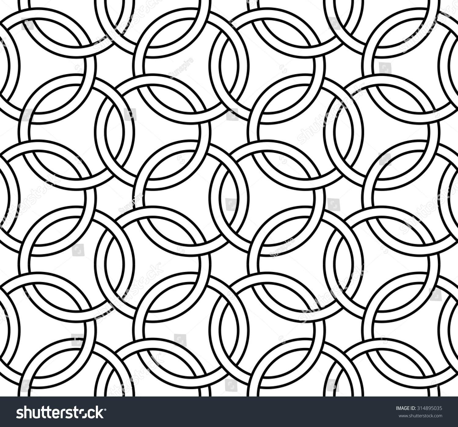 Modern bed sheets pattern - Vector Modern Seamless Pattern Geometry Circles Black And White Textile Print Stylish Background