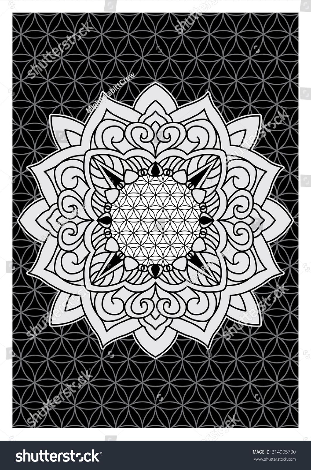 Mehndi Indian Henna Tattoo Pattern Background Stock Vector Royalty