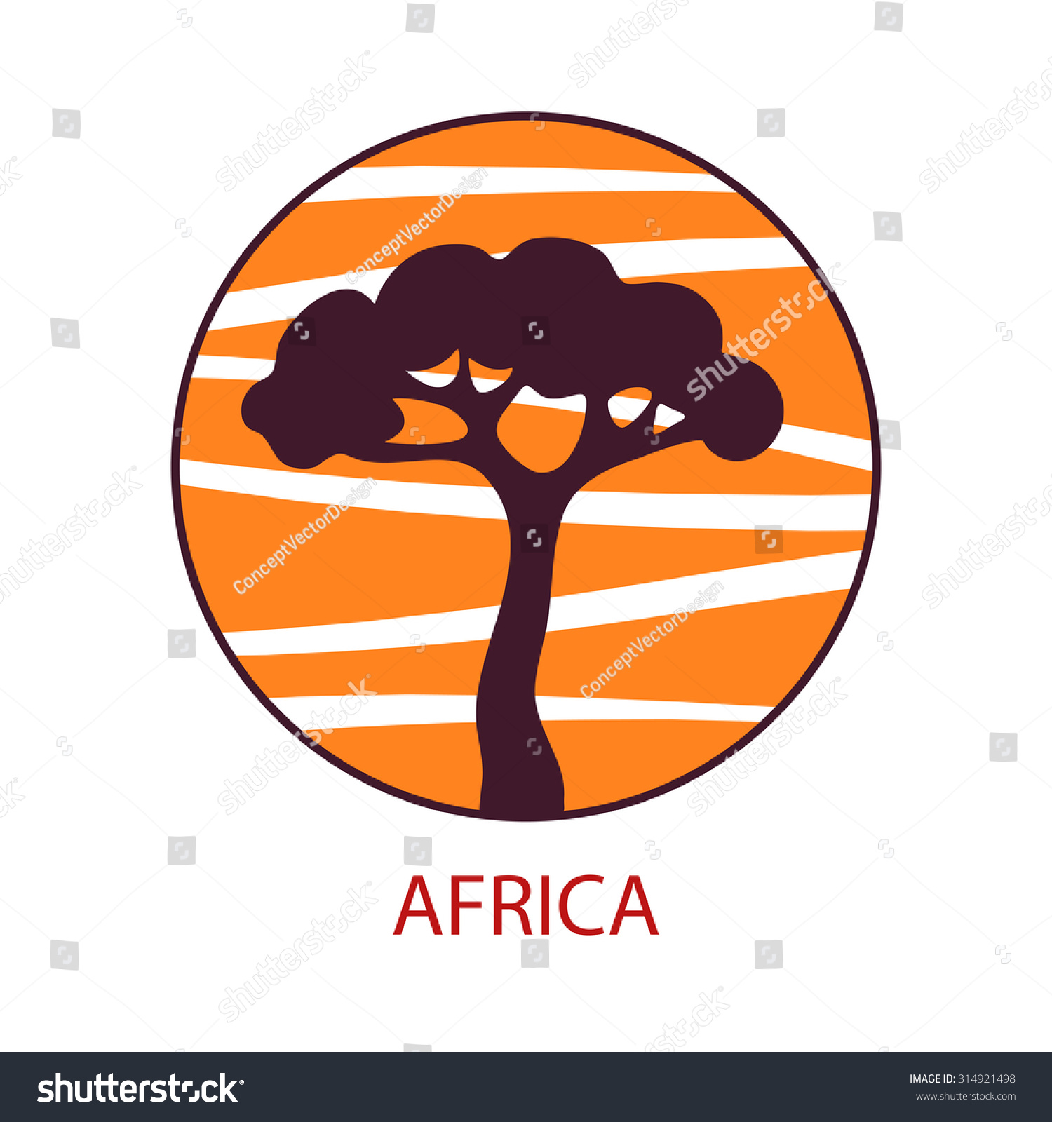 Vector Illustration Logo Life Safari Africa Stock Vector Royalty