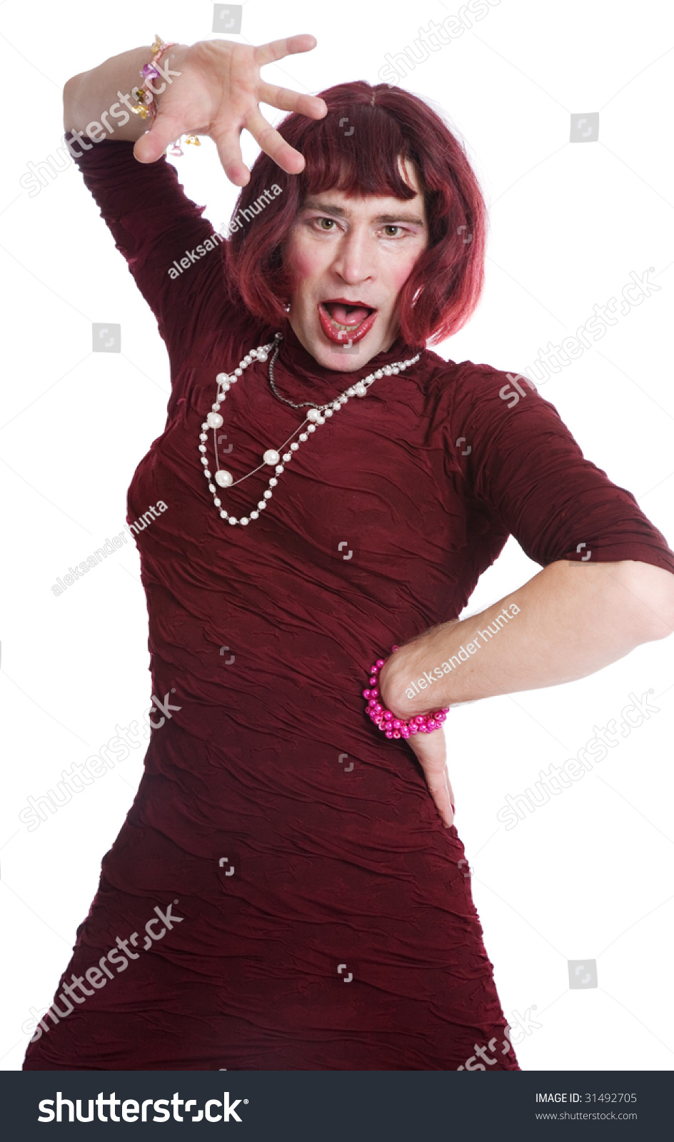 Creative A Man Dressed As A Woman Stock Photography - Image 12955842