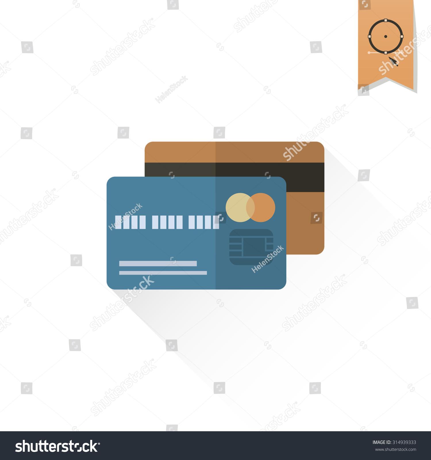 Credit Card Business Finance Single Flat Stock Illustration ...