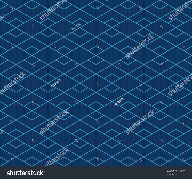 blue hexagonal pattern vector - photo #14