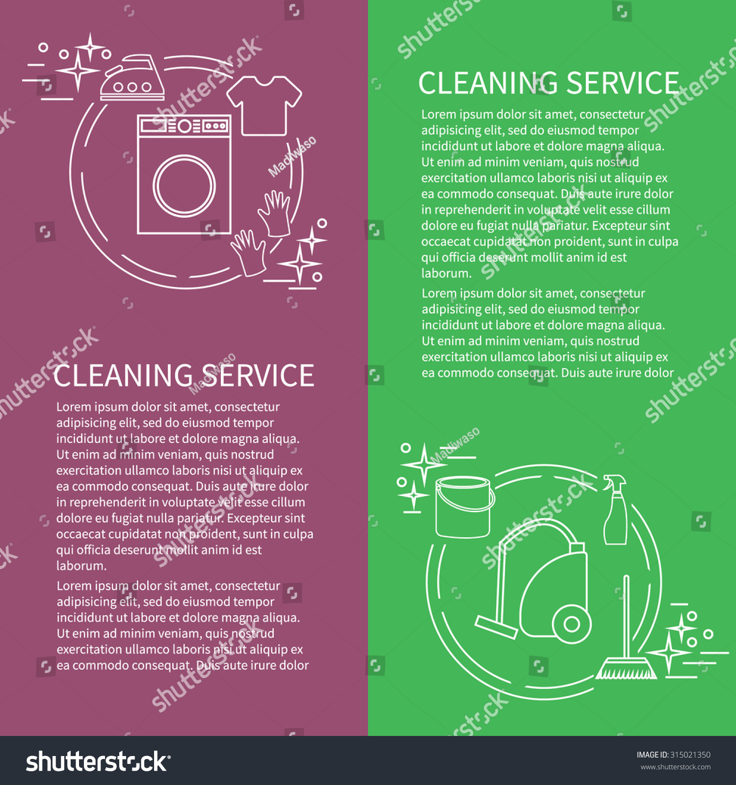 two flyers card cleaning service icon stock vector 315021350 two flyers card cleaning service icon vector template sample text for clean