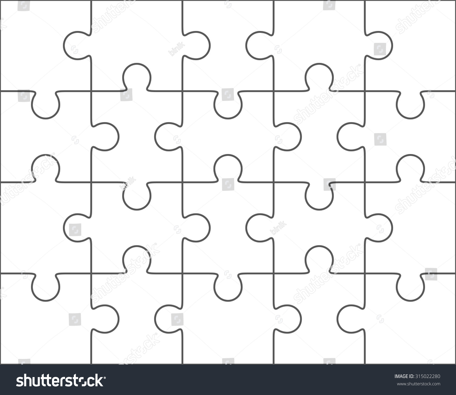 jigsaw puzzle vector blank simple template stock vector hd royalty rh shutterstock com vector puzzle pieces vector puzzle template