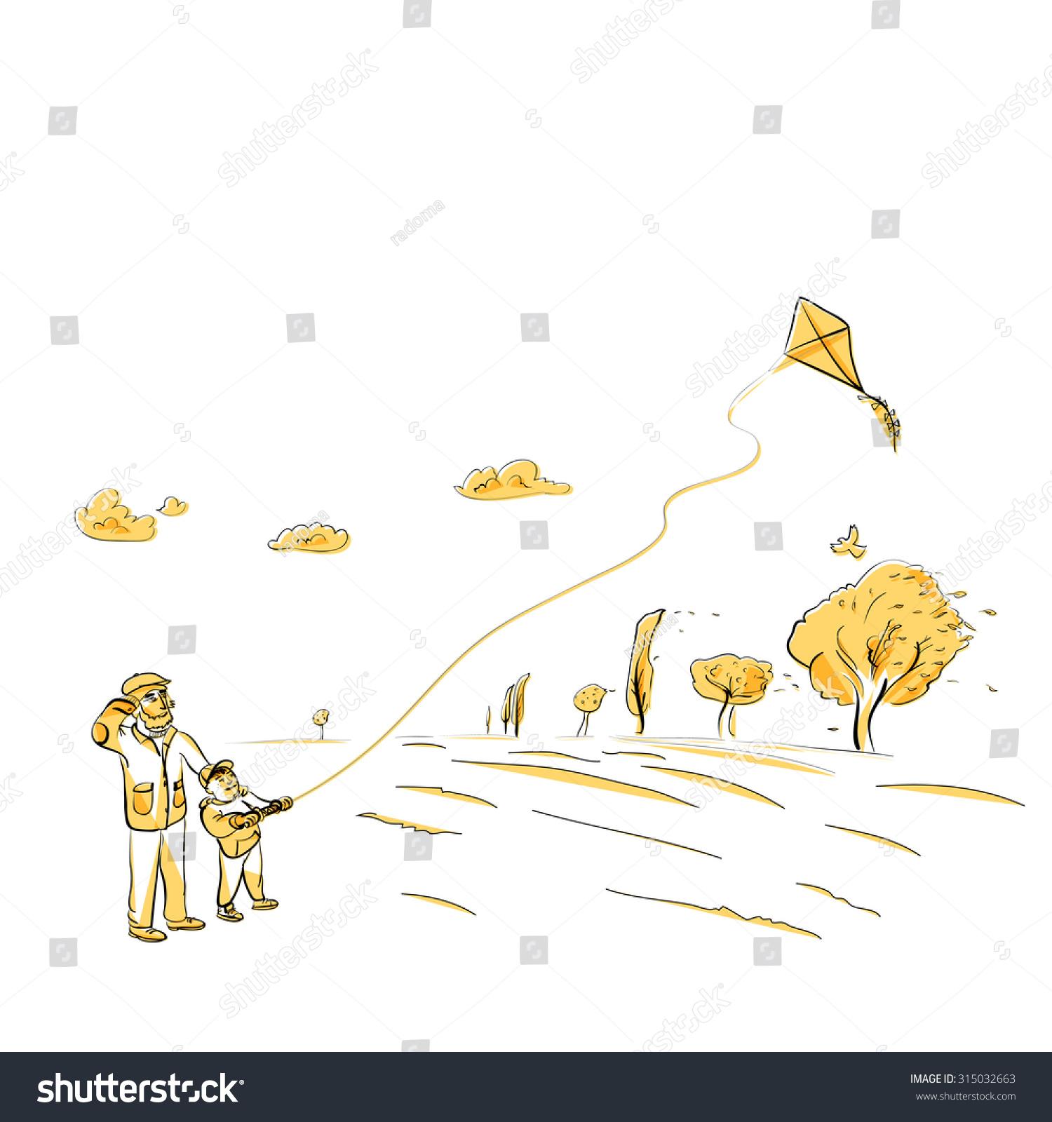 flying kite illustration - photo #34