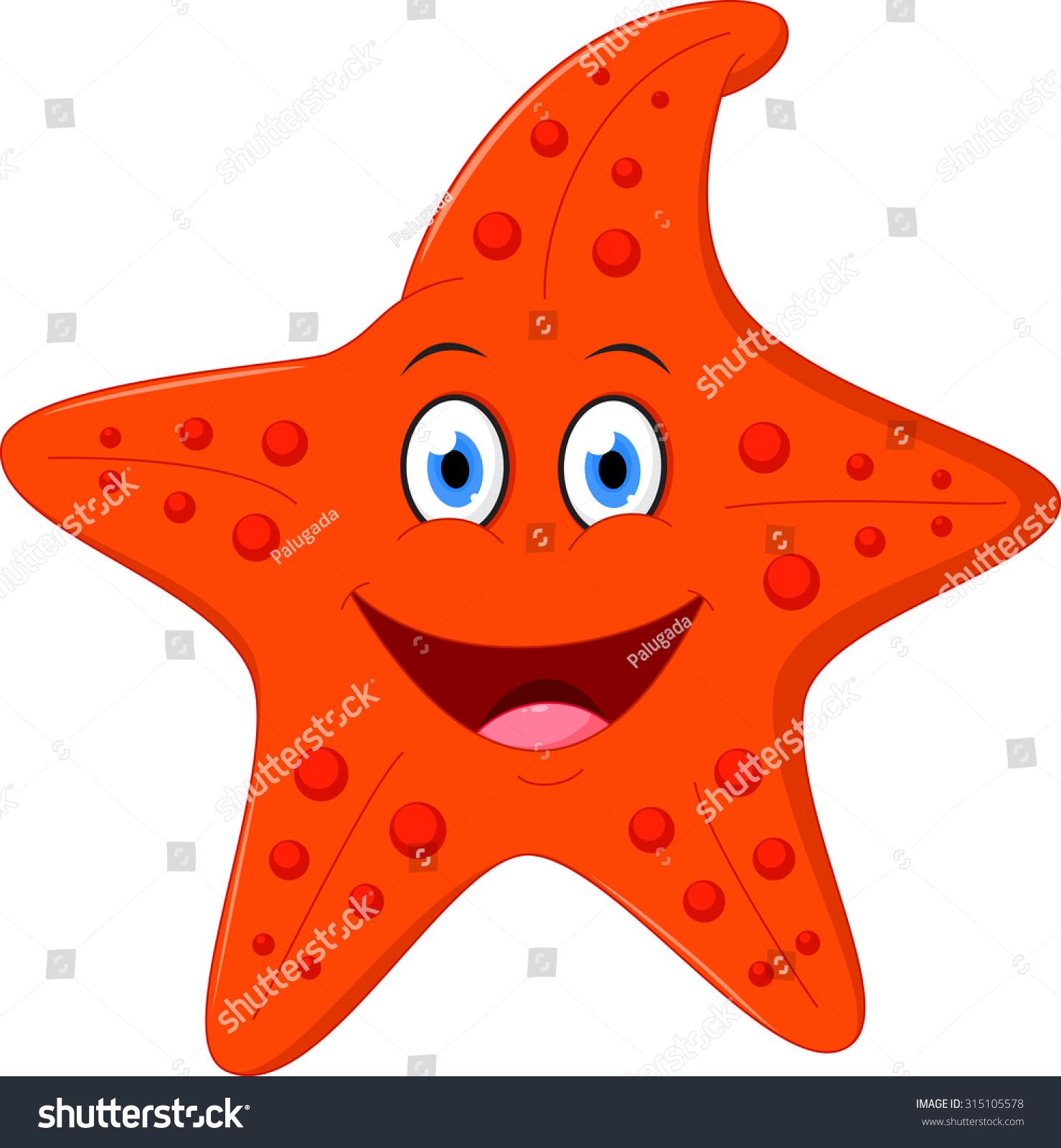 Happy Starfish Cartoon Stock Vector 315105578 - Shutterstock
