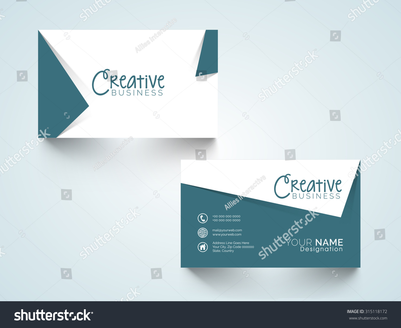 Creative Horizontal Business Card Name Card Stock Vector 315118172 ...