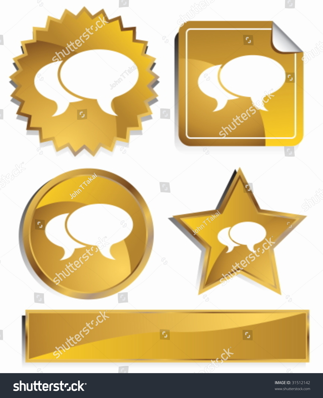Stock market icon set gold satin stock vector 31512142 shutterstock stock market icon set gold satin metal buttons in star starburst circle and biocorpaavc Images