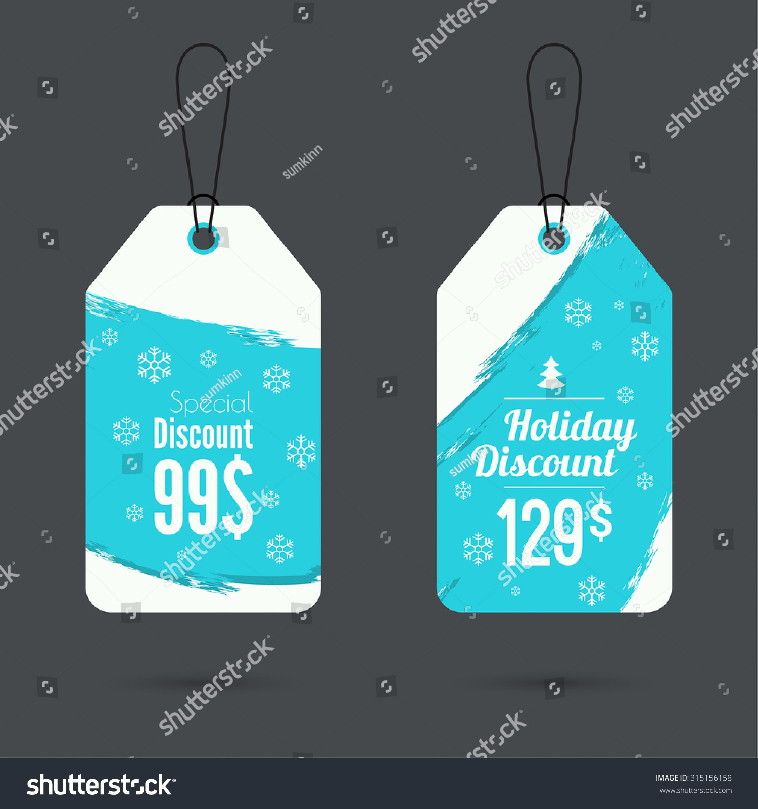 Set Price Tag Ribbons Labels Special Stock Vector 315156158  - Christmas Tree Discounts