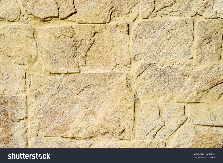 Yellow Stone Cladding Plates On Wall Stock Photo & Image (Royalty ...