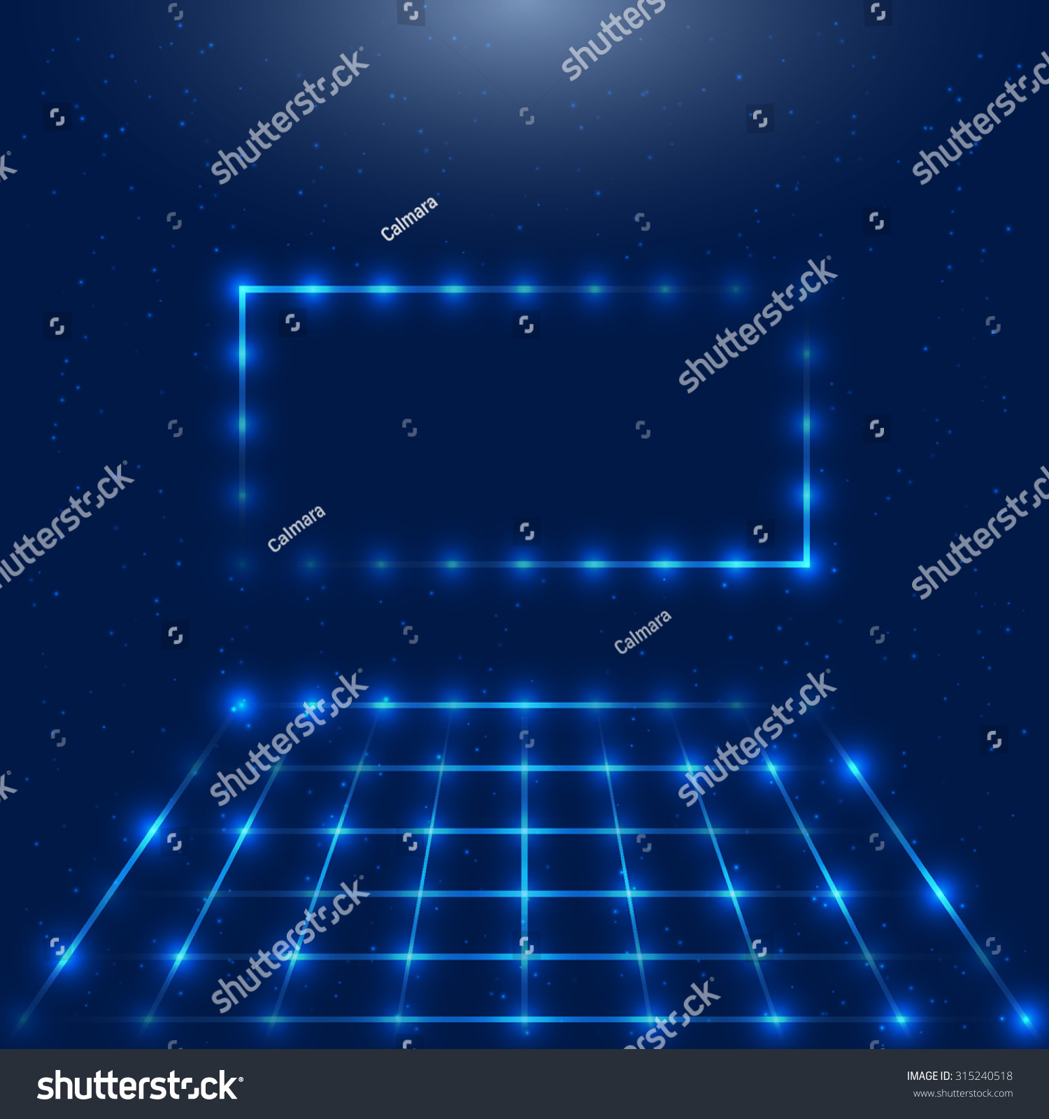 Abstract Technology Design Frame Led Lights Stock Vector Royalty Light Circuit With And Space For Your Logo Retro Disco
