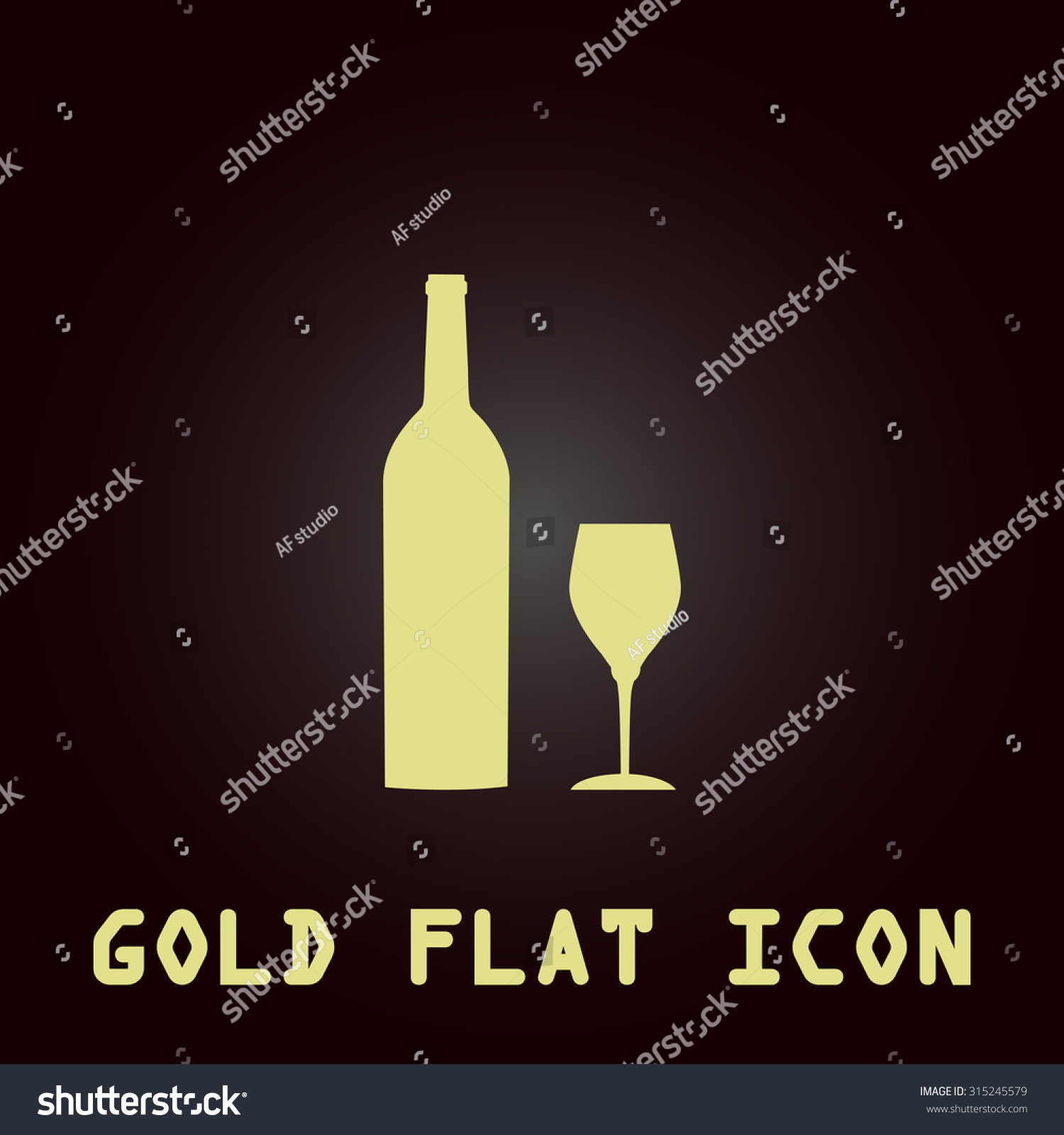 Bottle wine glass gold flat icon stock illustration 315245579 bottle of wine and glass gold flat icon symbol for web and mobile applications biocorpaavc Gallery