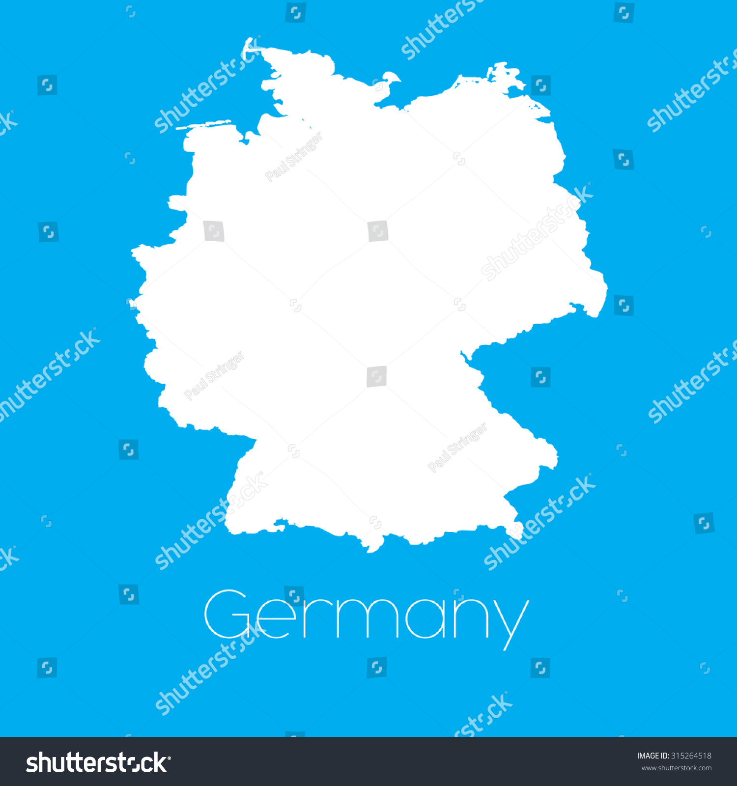 Country Of Germany Map.Map Country Germany Stock Vector Royalty Free 315264518