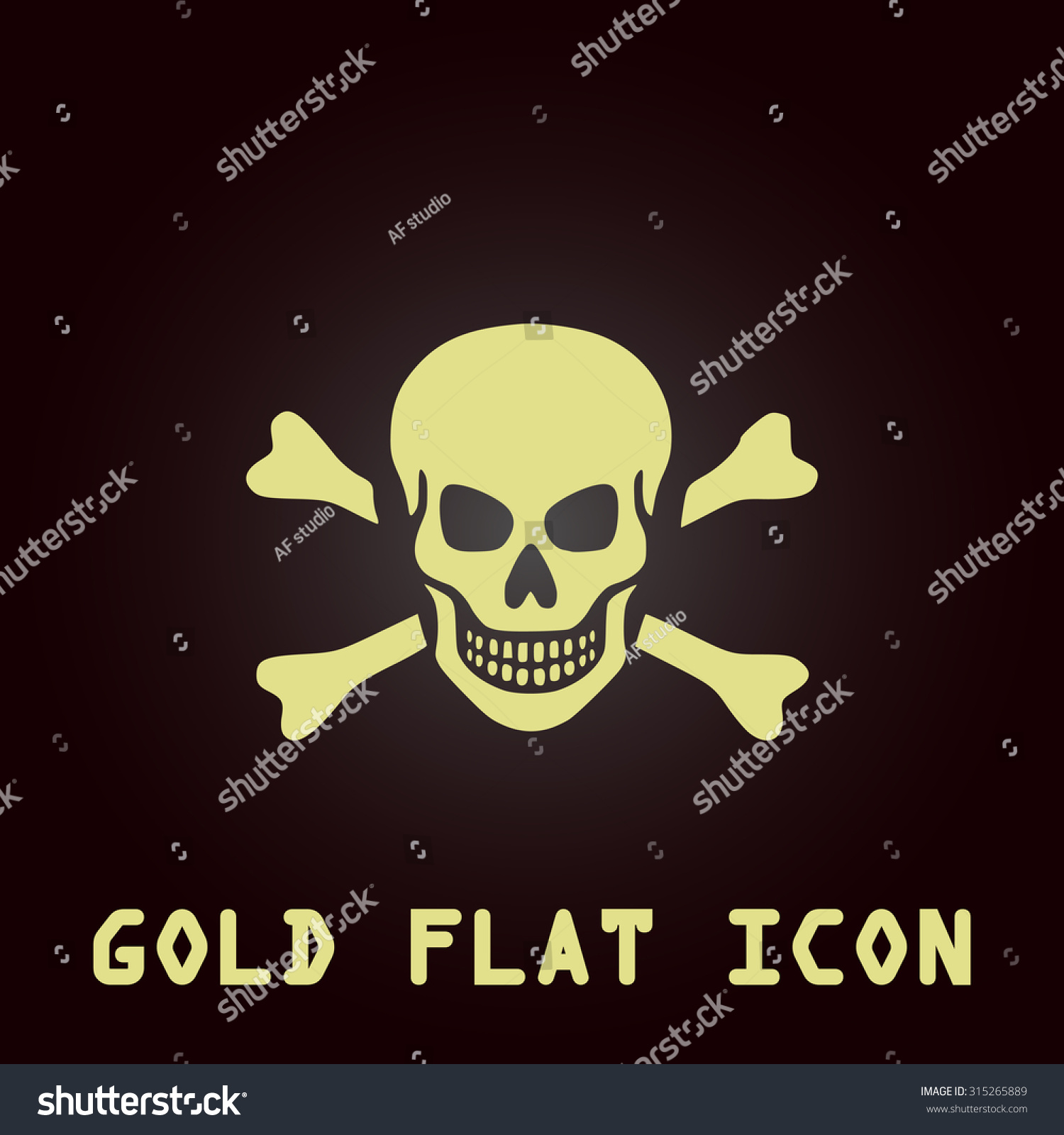 Skull crossbones gold flat icon symbol stock illustration skull and crossbones gold flat icon symbol for web and mobile applications for use buycottarizona Images