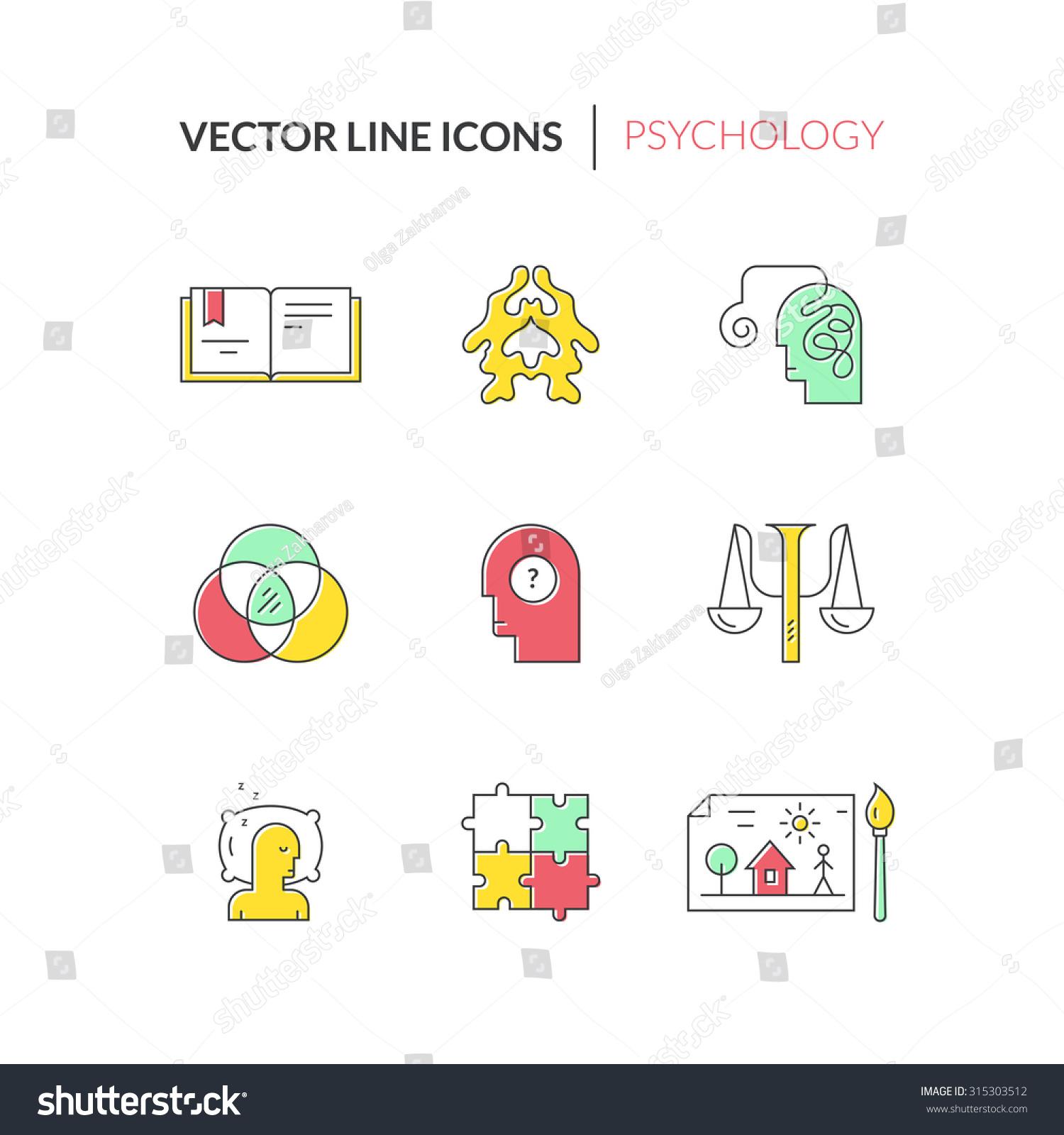 Psychology Mental Health Symbols Made Clean Stock Vector Royalty