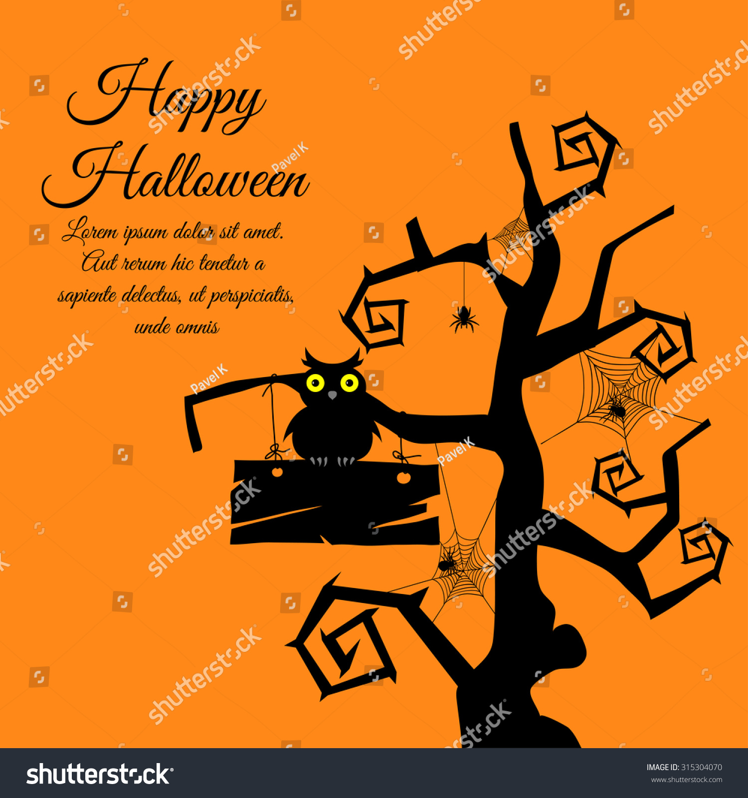 Happy Halloween Greeting Card. Elegant Design With Gothic ...