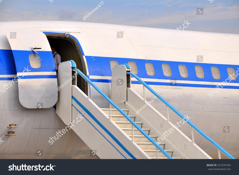 Entrance Plane Stock Photo 315370184