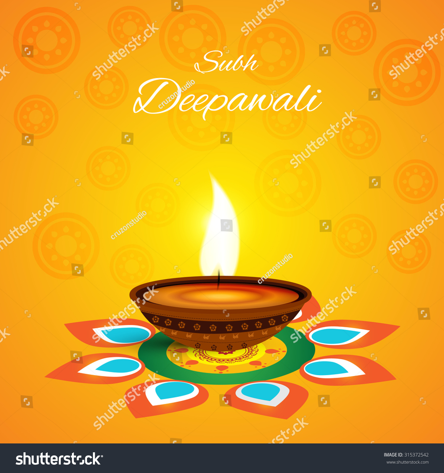 Vector Illustration Or Greeting Card For Diwali Ez Canvas