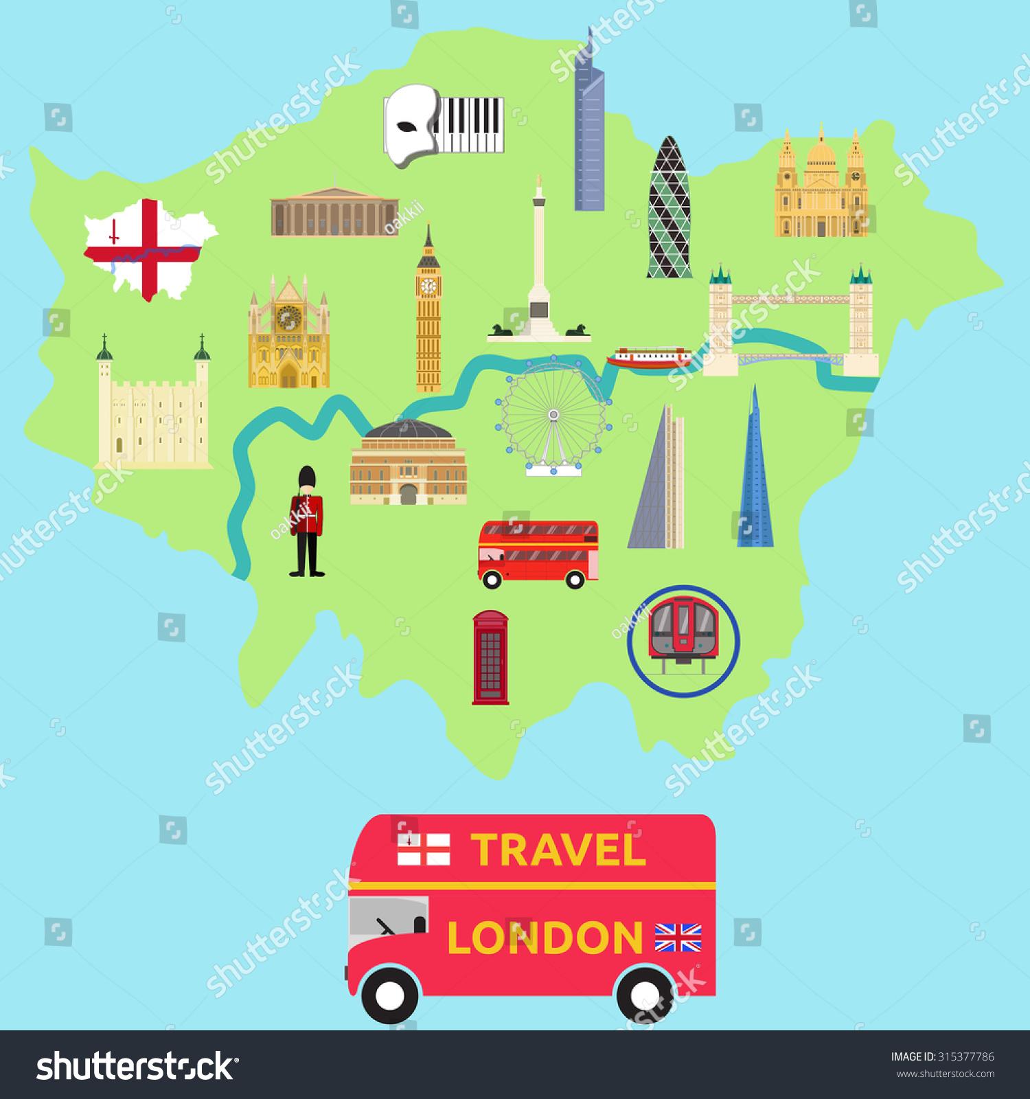 map of london attraction landmarkbridge big ben museum bus london
