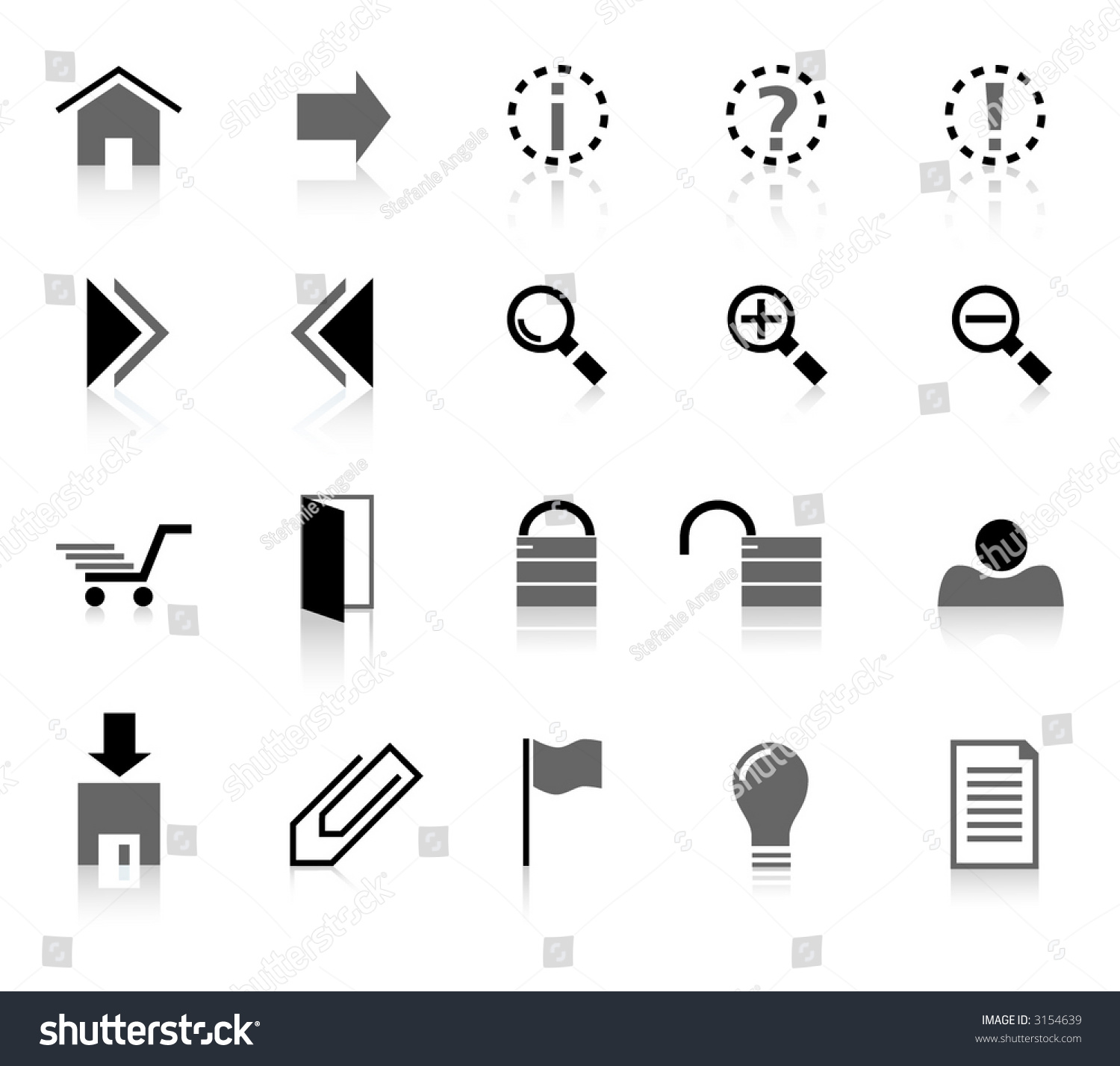 Collection Signs Symbols Internet Stock Vector Royalty Free