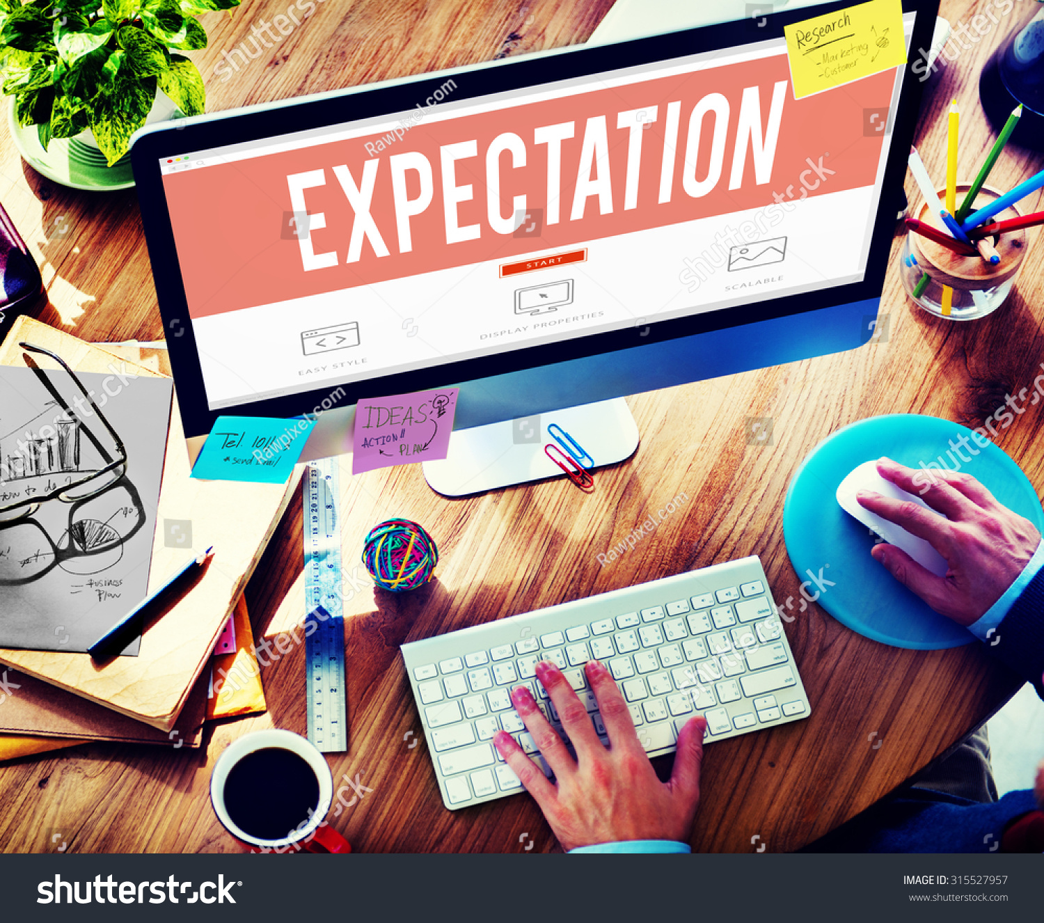 Expectation Prediction Hope Strategy Planning Concept Stock