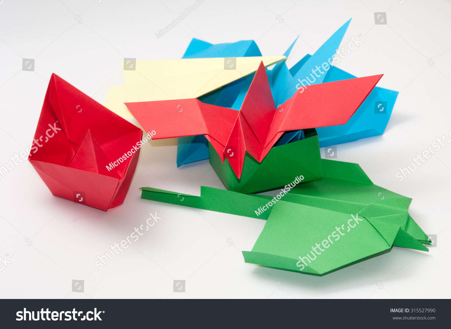 Pile bunch origami objects plane boat stock photo 315527990 pile bunch origami objects plane boat jeuxipadfo Choice Image