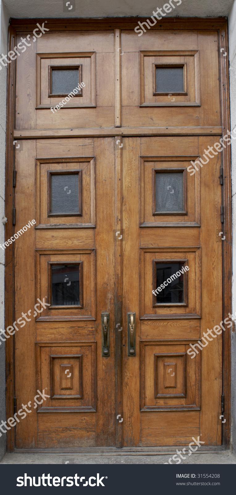 Beautiful wooden door stock photo 31554208 shutterstock for Beautiful wooden doors picture collection