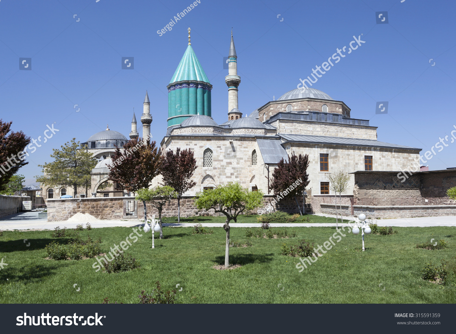 Mausoleum of Mevlana Rumi in Konya Turkey
