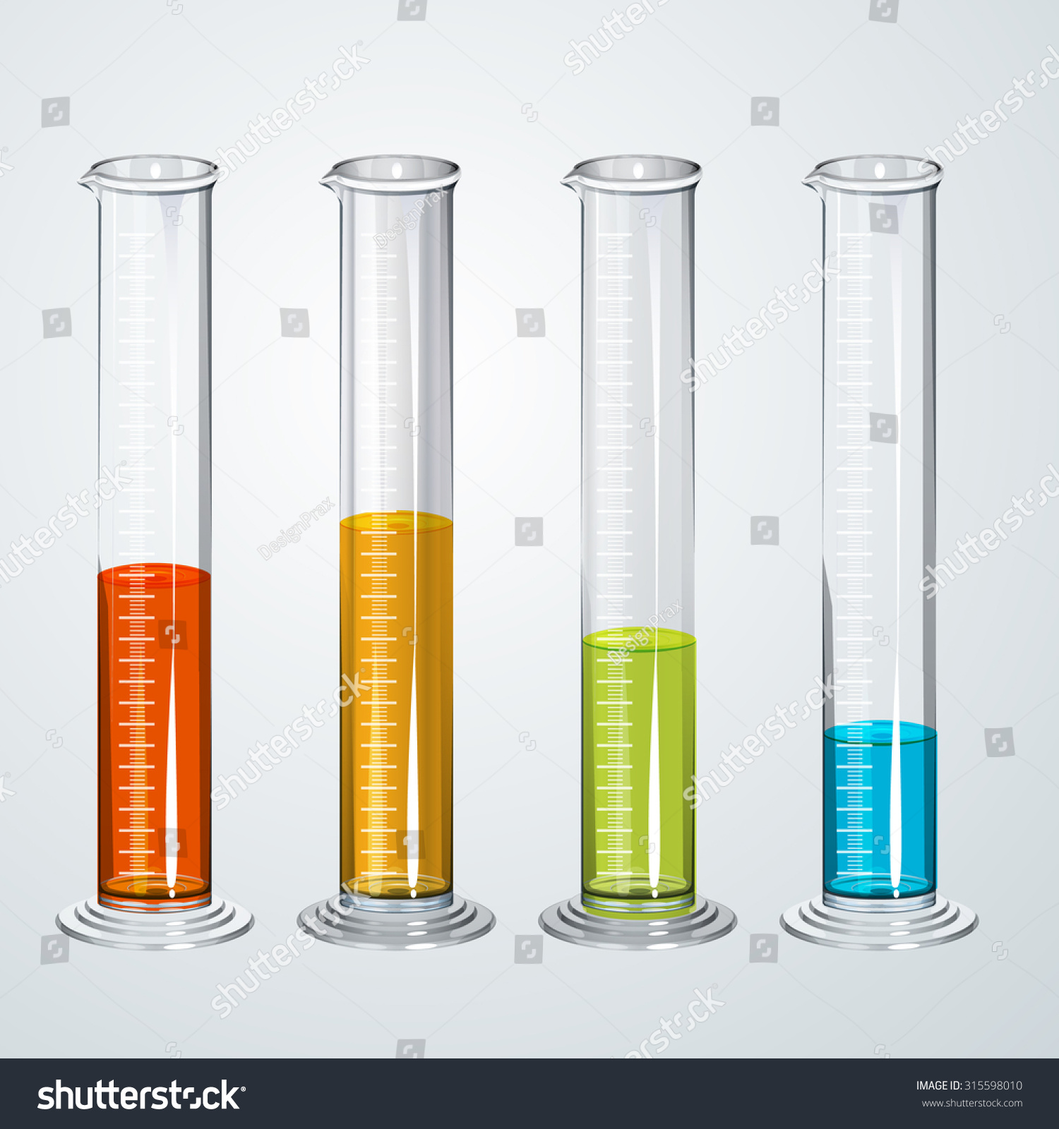 Chemistry Apparatus Graduated Cylinder Fluid Illustration Stock ... for Graduated Cylinder Laboratory Apparatus  34eri