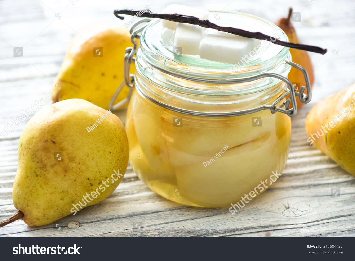 Preserved Fruit.Homemade Pears Compote Stock Photo 315684437 ...
