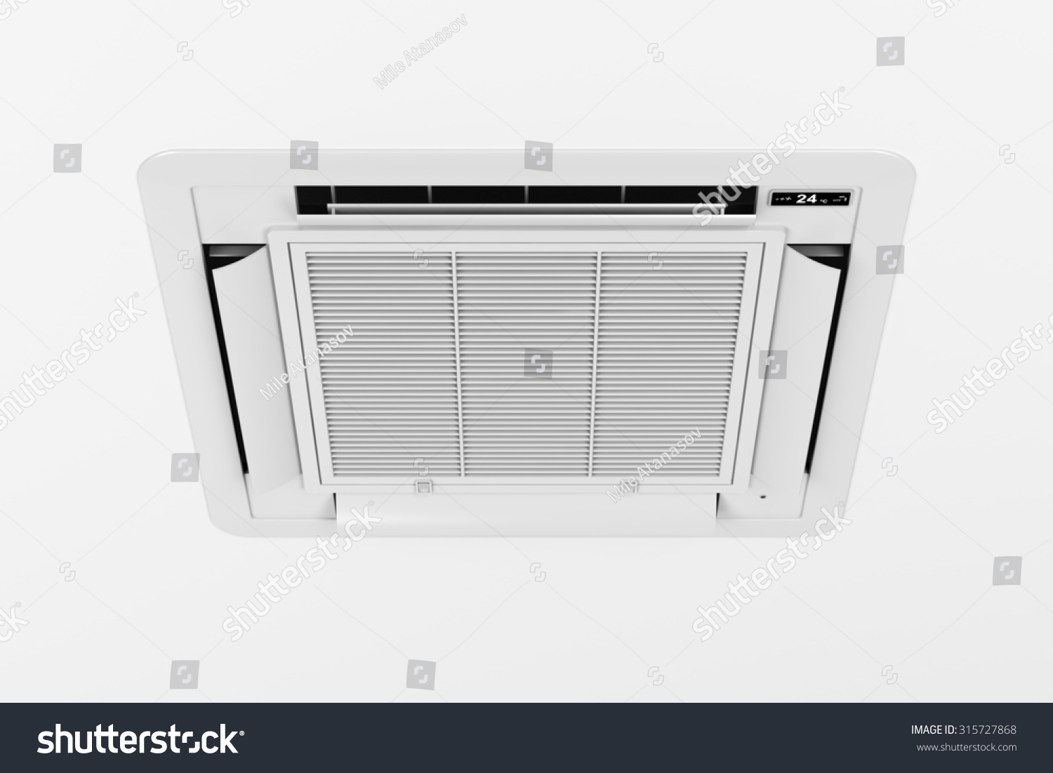 Ceiling Mounted Cassette Type Air Conditioner Stock Photo 315727868  #262B33